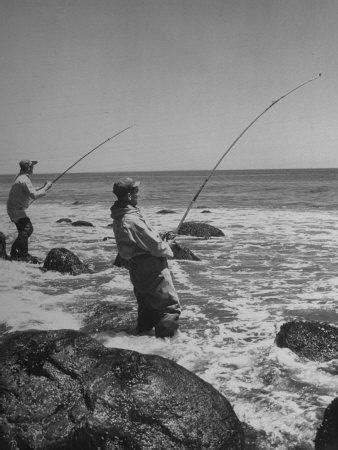 Two Men Fishing Off Montauk Point Photographic Print by