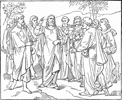 coloring pages of jesus and his disciples apostles coloring pages