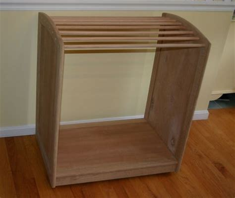 crafted saddle pad rack by lyons woodworking