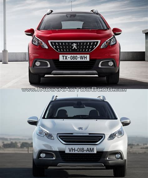 peugeot new models 2016 peugeot 2008 front old vs new indian autos blog