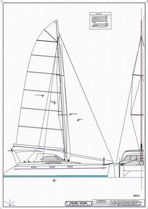 catamaran study plans lidgard yacht design 40 ft catamaran multihull study plan