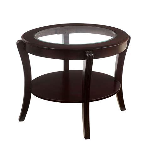 kmart sofa table furniture of america espresso baton oval glass top end