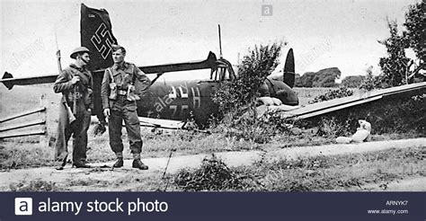 how to a to guard your home home guard on downed german bomber junkers 88 in the battle of stock photo royalty