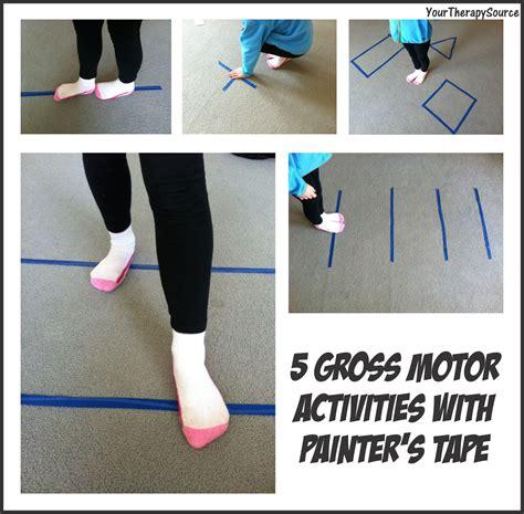 gross motor skills activities 5 gross motor activities with painter s your