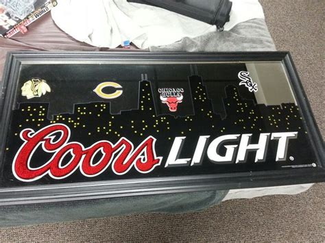 coors light blue mountains custom coors light mirror chicago life remember
