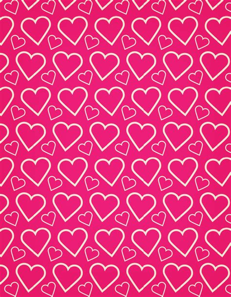 heart pattern pink a heart outline free seamless vector pattern vector patterns