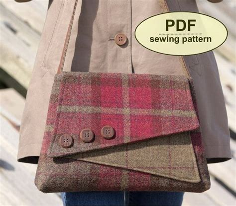 jenna tote bag pdf sewing pattern instant download zipper new sewing pattern to make the breckland bag pdf