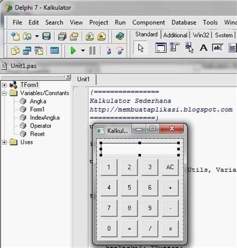 membuat kalkulator html cara membuat kalkulator dengan delphi 7 cara membuat