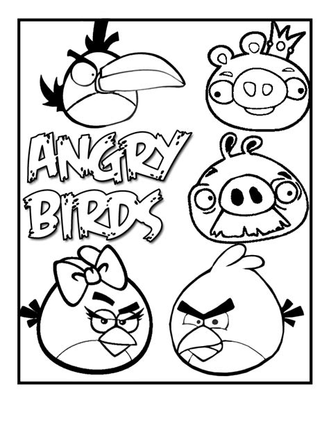 angry birds coloring pages free printable coloring pages