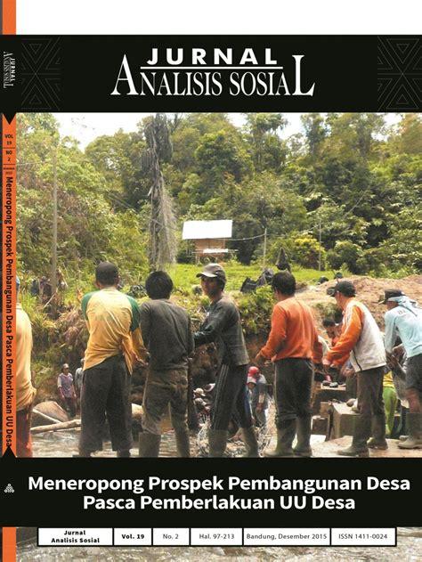 Analisis Masalah Sosial jurnal analisis sosial neliti