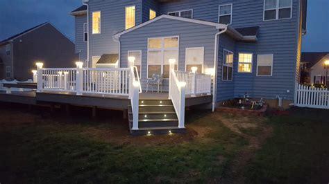 timbertech deck lighting benches picture  deckscom