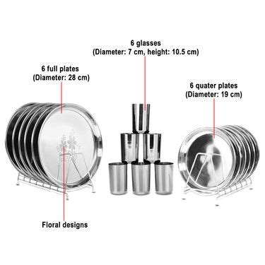buy branded 44 pcs stainless buy 50 pcs designer stainless steel dinner set online at