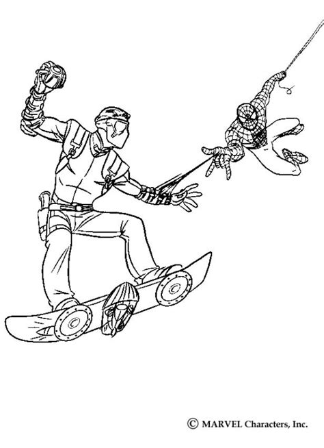 spiderman green goblin coloring pages az coloring pages