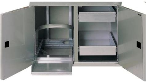 outdoor kitchen stainless doors and drawers firemagic 20 1 2 quot x 30 quot classic stainless steel double doors with dual drawers and tank trash tray