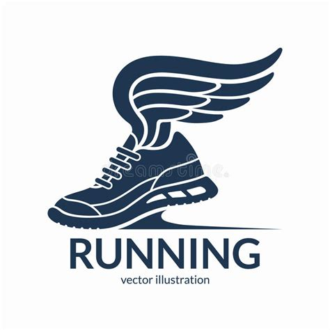 athletic shoes logo speeding running shoe symbol icon logo sneaker