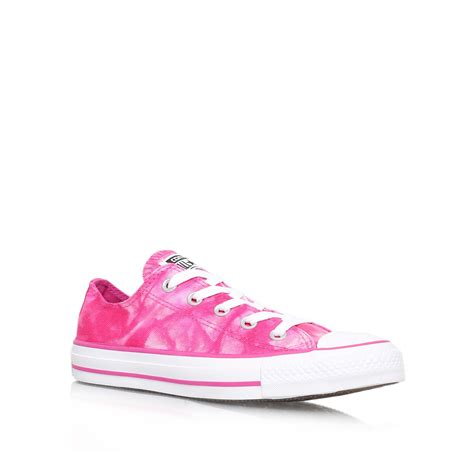 converse ct tie dye low in pink for lyst