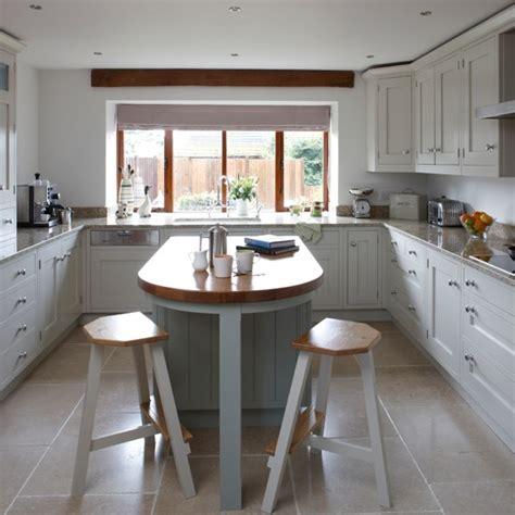 white kitchen ideas uk white and wood shaker style kitchen housetohome co uk