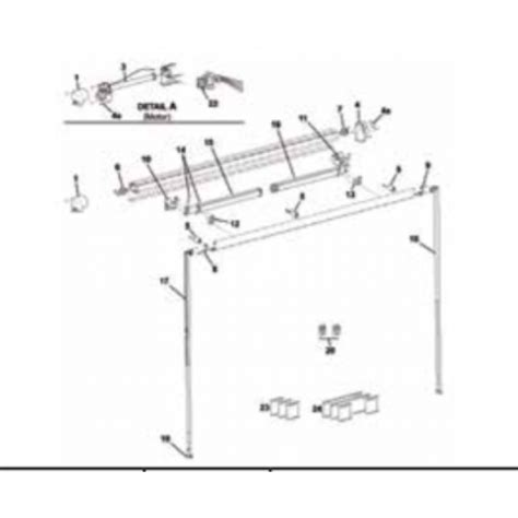 Carefree Awning Parts Diagram Carefree Freedom Carpot Foot R00394 Carefree 12v