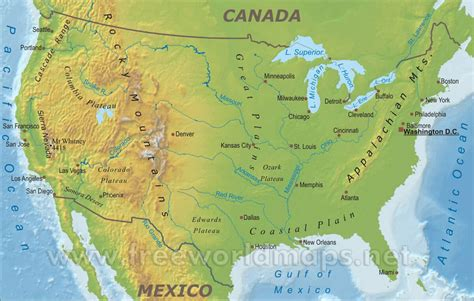 Picture Of Map Of Usa by Usa Map