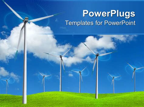 Powerpoint Template Wind Farm Turbines To Produce Electricity In Green Field 31343 Energy Powerpoint Template