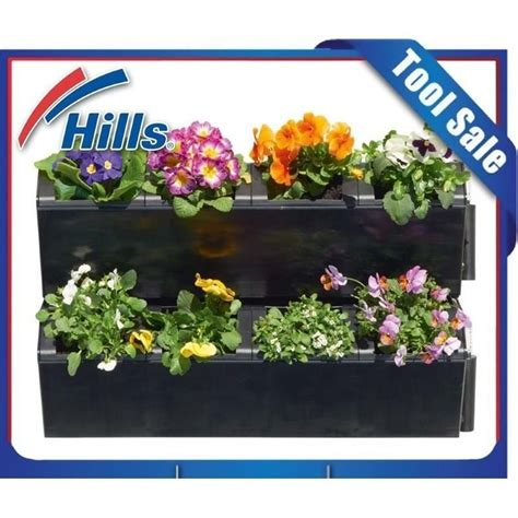 self watering wall planters hills 2 level self watering garden wall planter box buy
