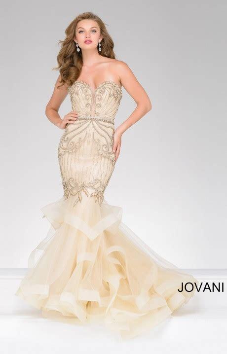 jovani  layered tool mermaid dress prom dress