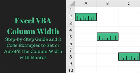 a step by step guide to a for 5k you will make your books excel vba column width step by step guide and 8 code exles