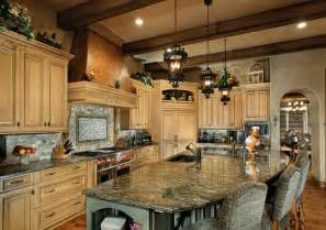 tuscan style kitchen islands kitchen features a