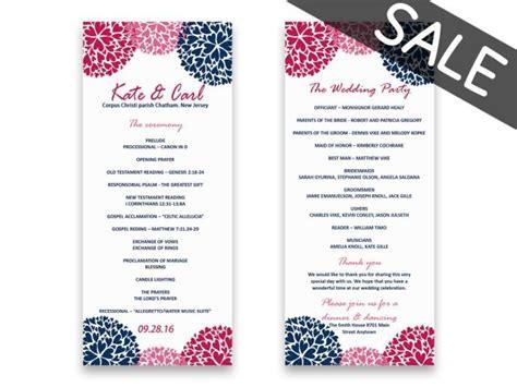 sale wedding program template download sale printable