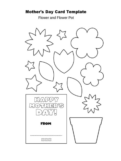 s day flower pot card 3d template s day crafts 9 free templates in pdf word excel