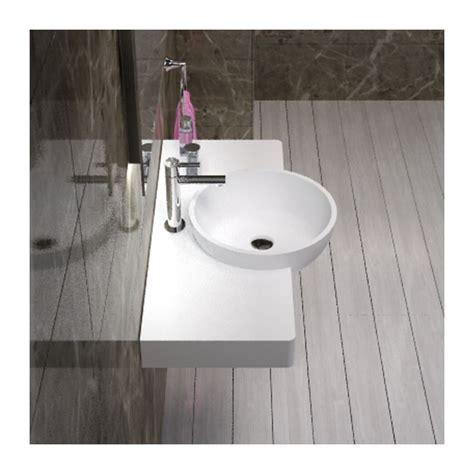 Modele Salle De Bain 4678 plan en fonte min 233 rale avec vasque ronde ien d 233 bord tr 232 s