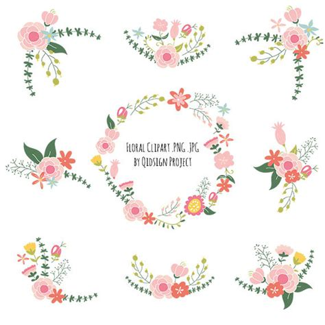 Wedding Flower Clipart by Wreath Clipart Modern Flower Pencil And In Color Wreath