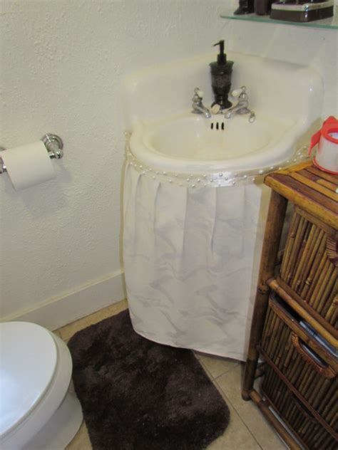 how to make a bathroom sink skirt bethroom sink skirt after traditional bathroom los