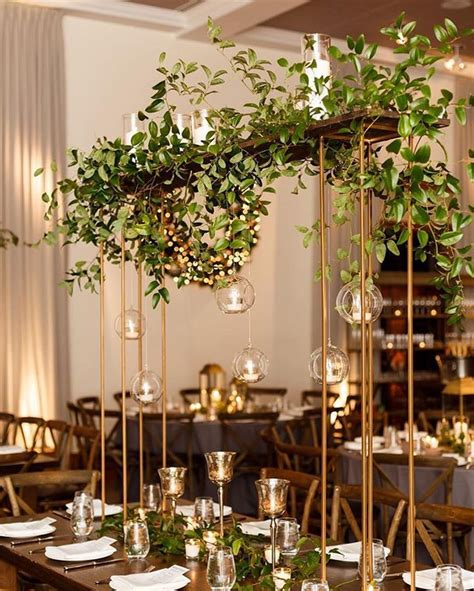 Wedding Aisle With Tables by Hmr Designs Greenery Virginia And Centerpieces