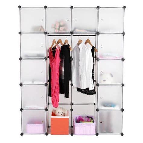 plastic armoire wardrobe songmics diy plastic wardrobe cupboard clothes hanging