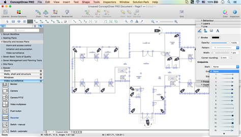 Free Online Drafting Tool basic cctv system diagram cctv network diagram example