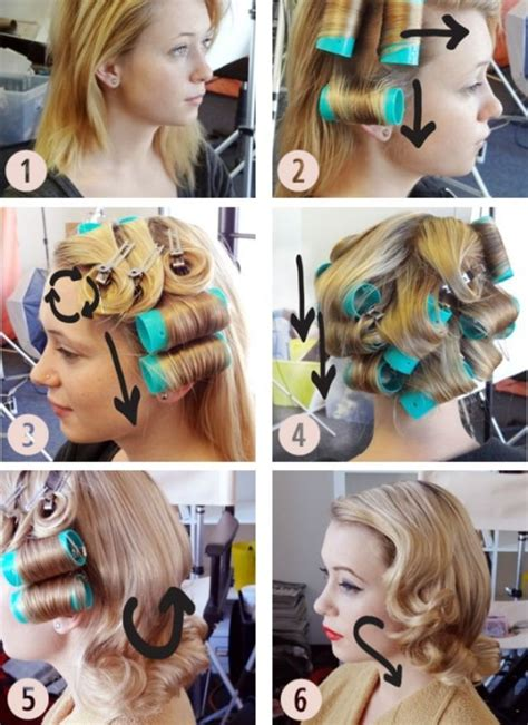 how to use hot rollers in layered shoulder length hair the 25 best roller set ideas on pinterest roller set