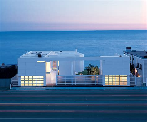 modern beach house modern beach house with white exterior paint by richard