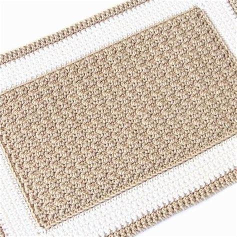 crochet rectangle rug by julie oparka craftsy