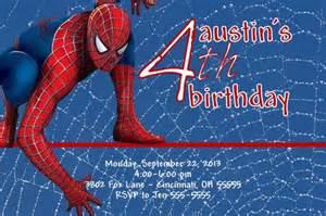 printable spiderman birthday invitation designs spiderman custom designed birthday invitation with or