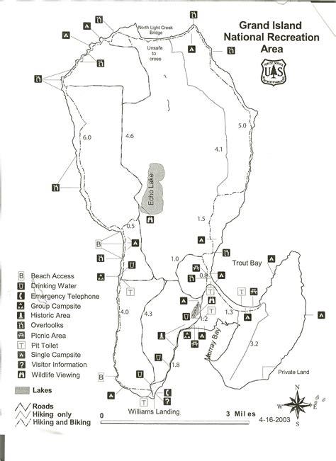map of grand island grand island national recreation area map grand island