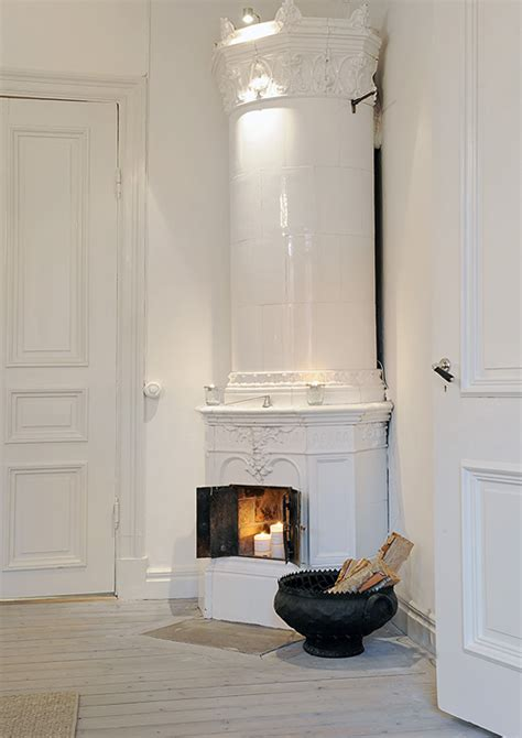 swedish fireplace a gorgeous swedish apartment for sale the style files