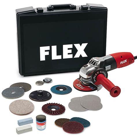 Stahl Polieren Flex by Flex Le 14 7 125 Inox Set Winkelschleifer Edelstahl 1400w