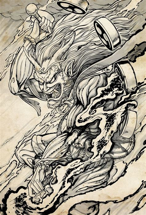 131 best images about raijin and fujin on pinterest god