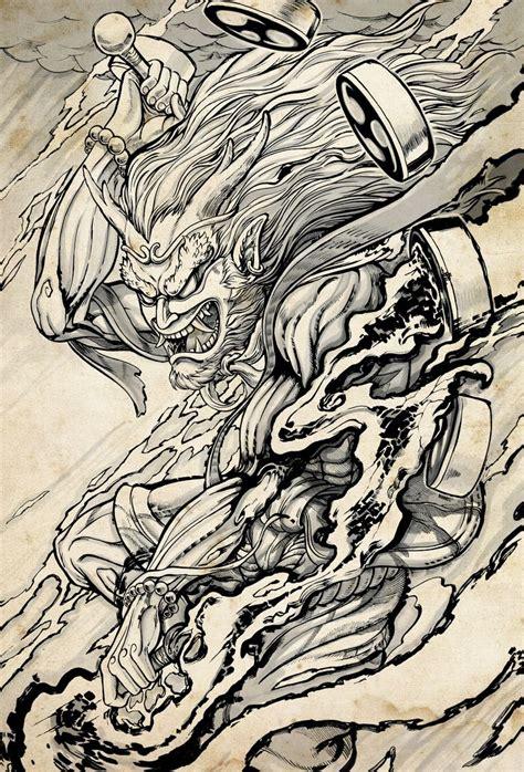 oriental god tattoo 131 best images about raijin and fujin on pinterest god