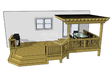 porch building plans decks free plans