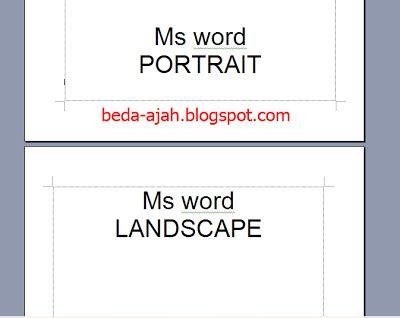 membuat halaman portrait dan landscape di word membuat portrait dan landscape secara bersamaan tutorial