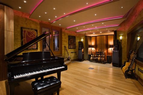 music room in house music studio contemporary home theater other metro