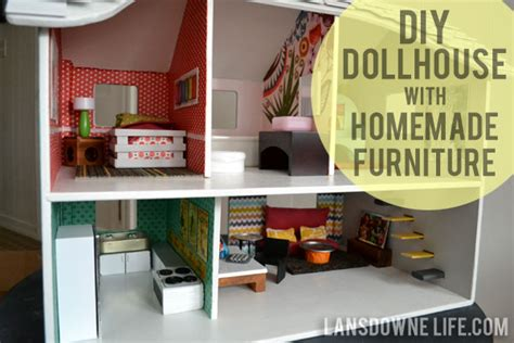 home made doll house modern diy dollhouse with homemade furniture part 1 of 6 lansdowne life