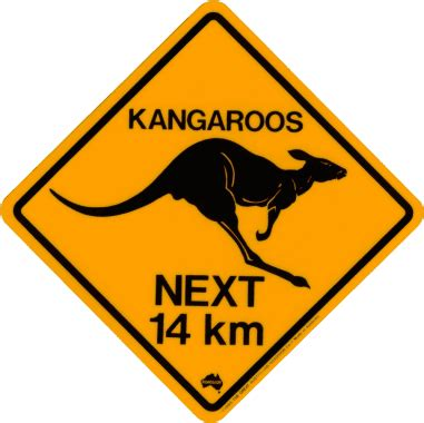 printable road signs australia kangaroo crossing road signs